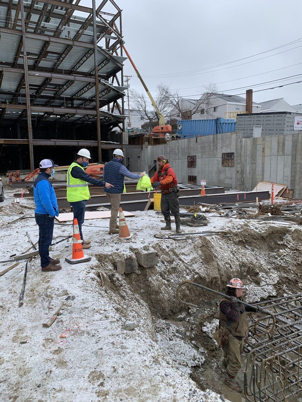 Concrete construction in the winter