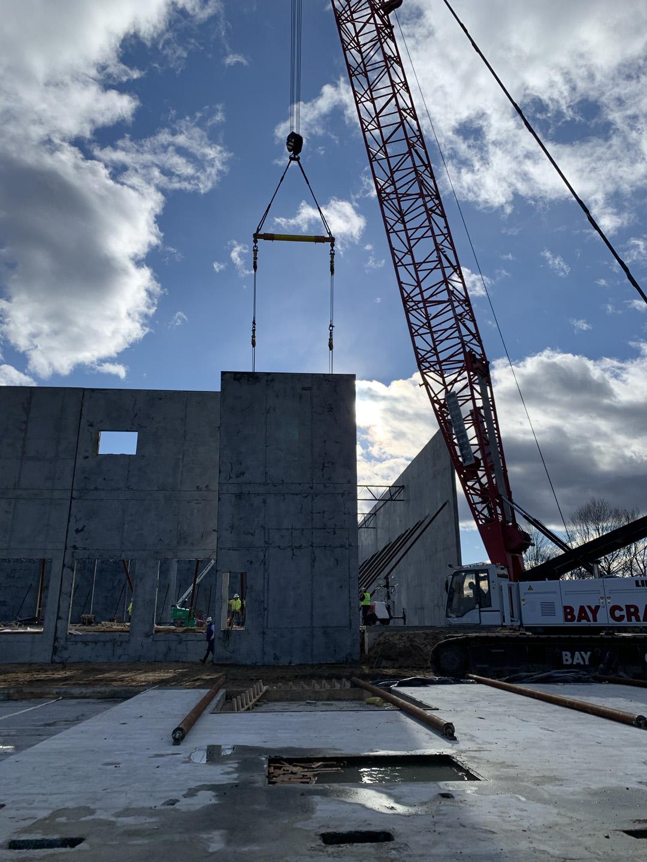 Crane lifting tilt-up panel