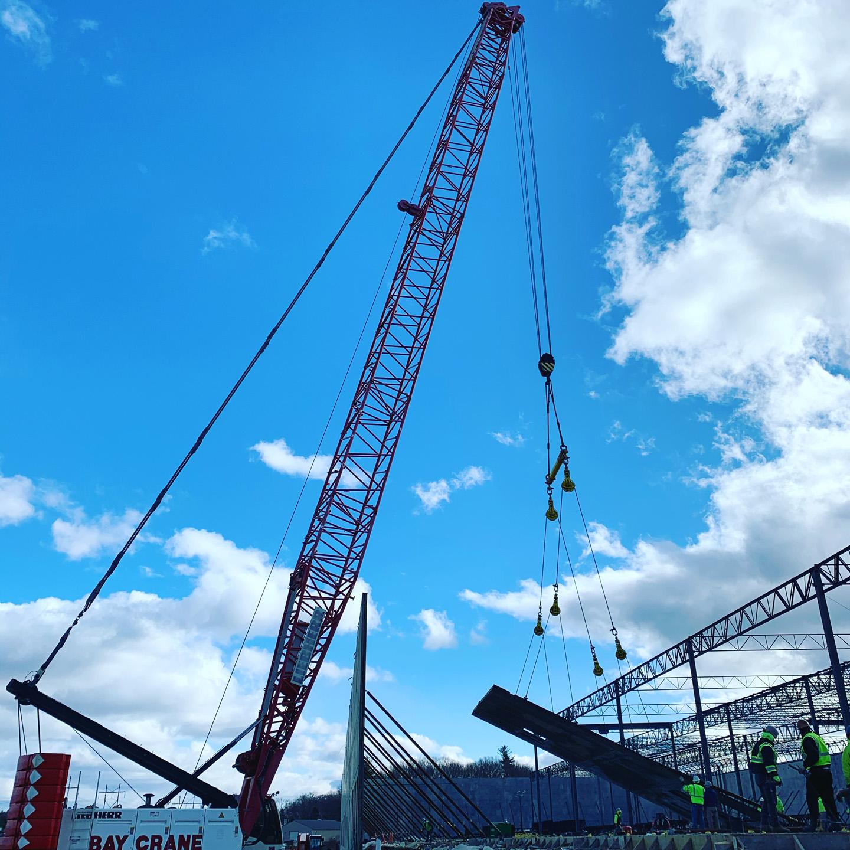 Crane lifting a tilt-panel